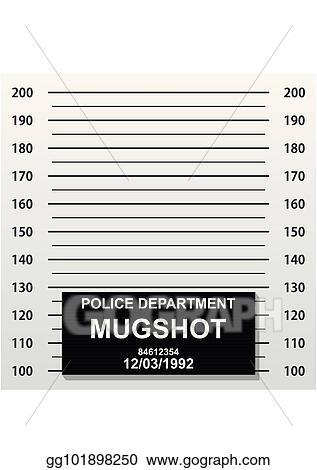 EPS Vector - Criminal mug shot line police mugshot add a photo
