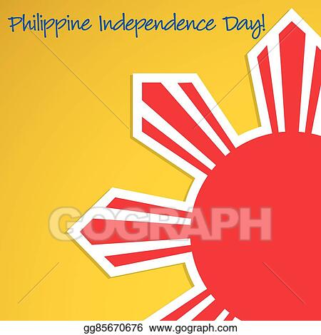 Vector Clipart - Cut out philippine independence day card in vector