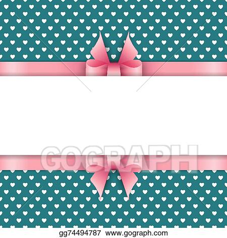 EPS Vector - Cute background with pink ribbon Stock Clipart