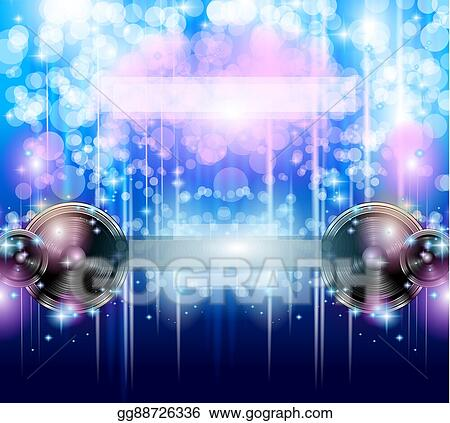 Clip Art - Disco club flyer template for your music nights event