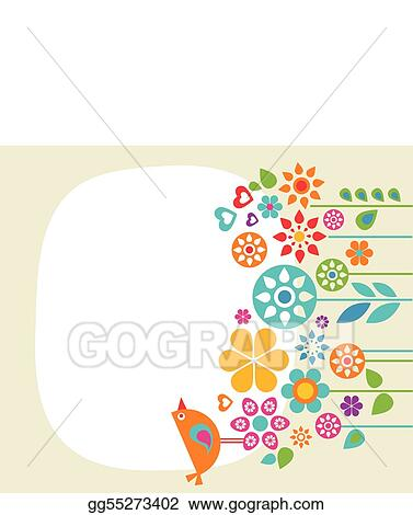 Vector Art - Easter card template - 1 Clipart Drawing gg55273402