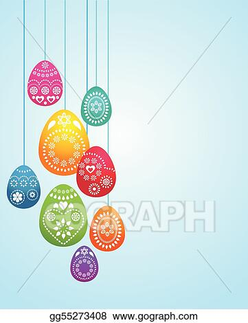 Vector Art - Easter card template - 3 Clipart Drawing gg55273408