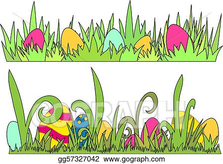 Vector Illustration - Easter egg border - vector EPS Clipart