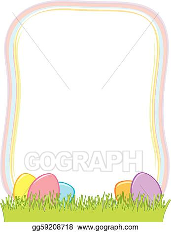 Vector Illustration - Easter egg border Stock Clip Art gg59208718