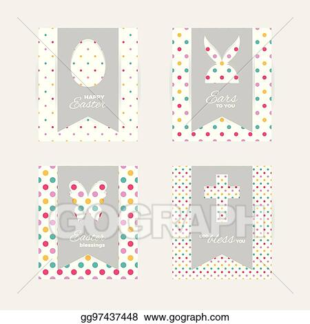 Vector Art - Easter gift tags and cards Clipart Drawing gg97437448