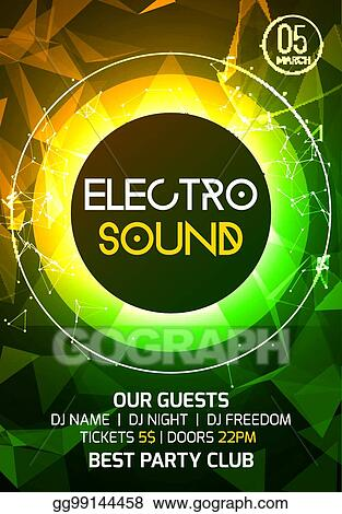 Vector Art - Electro sound party music poster electronic club deep