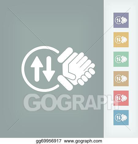Vector Illustration - Exchange agreement icon Stock Clip Art