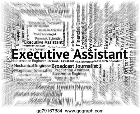 Drawing - Executive assistant means senior manager and pa Clipart