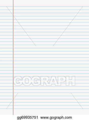 Vector Art - Exercise book paper page with lines EPS clipart - lines paper