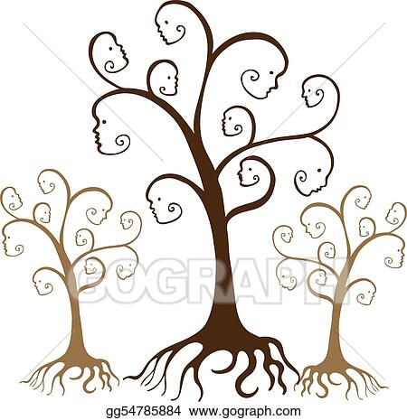 Vector Art - Family tree faces  Clipart Drawing gg54785884 - GoGraph