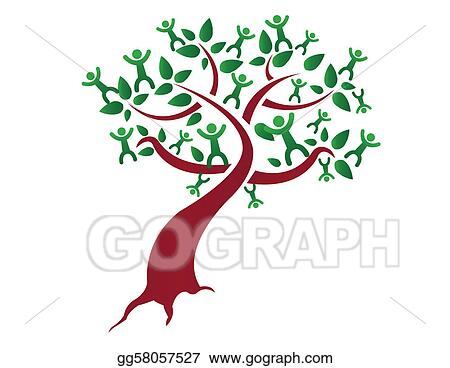 Vector Illustration - Family tree EPS Clipart gg58057527 - GoGraph