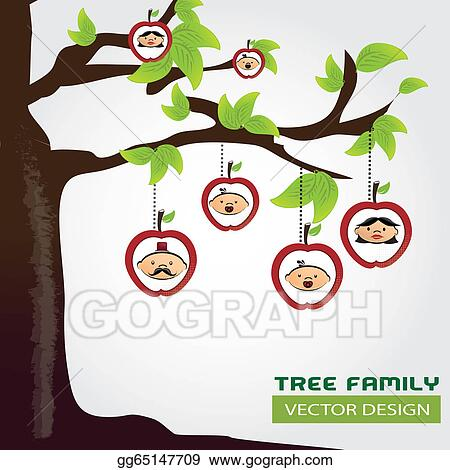 Vector Stock - Family tree Clipart Illustration gg65147709 - GoGraph