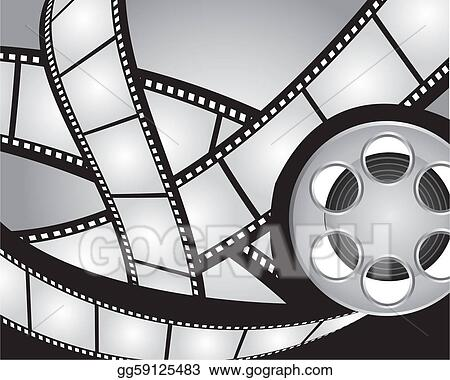 Vector Art - Films strips and video film  Clipart Drawing