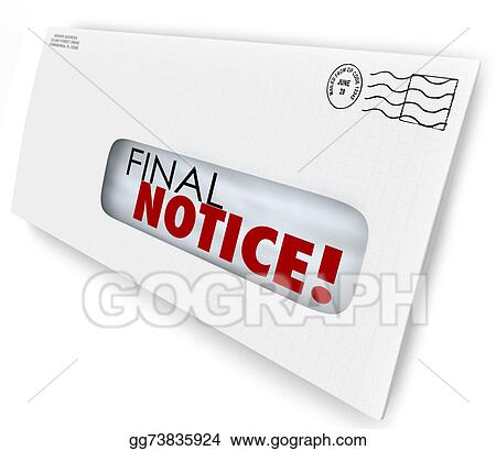 Stock Illustration - Final notice envelope bill invoice past due pay