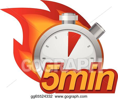 Five Minutes Clip Art - Royalty Free - GoGraph