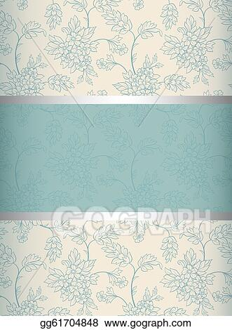 Vector Clipart - Floral background invitation to the wedding or