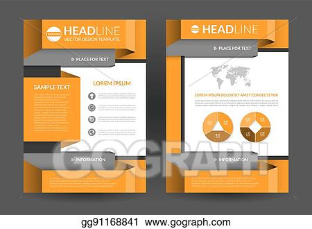 EPS Illustration - Flyer brochure layout template a4 size Vector