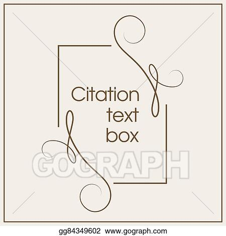 Vector Stock - Frame for decoration quote and other information - frame for cards