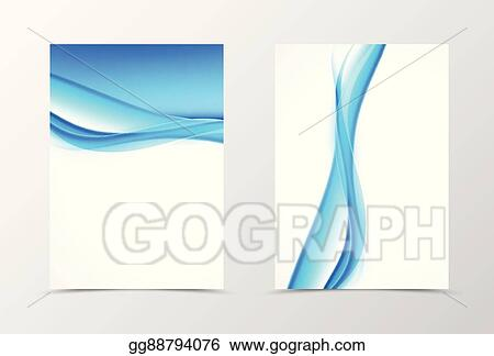 Clip Art Vector - Front and back smooth wave flyer template design