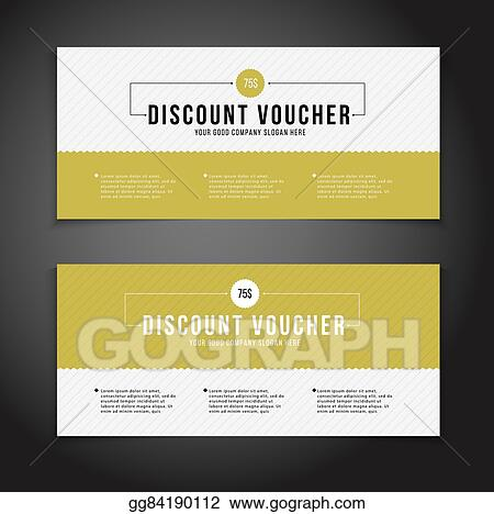 Vector Stock - Gift or discount voucher template with modern design