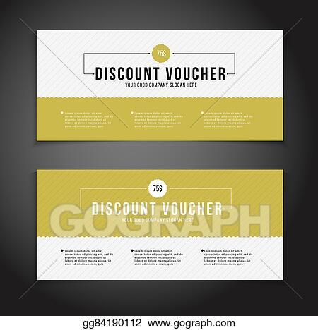 Vector Stock - Gift or discount voucher template with modern design - discount voucher design