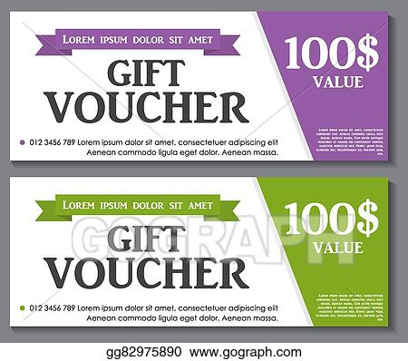 Vector Illustration - Gift voucher template with sample text vector