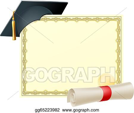 EPS Vector - Graduate certificate background Stock Clipart - Graduation Certificate Paper