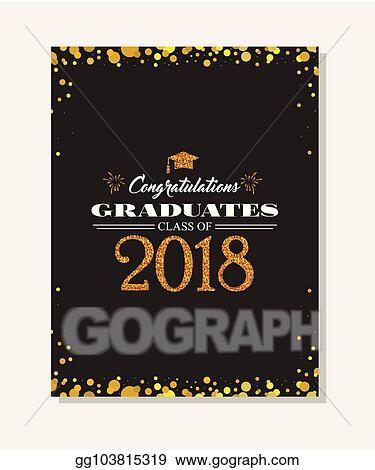 EPS Illustration - Graduation party vector template invitation to