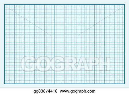 Vector Stock - Graph paper background design flat Clipart