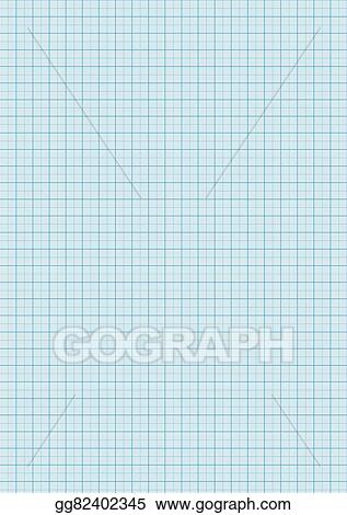 Vector Art - Graph paper cyan color on a4 sheet size Clipart