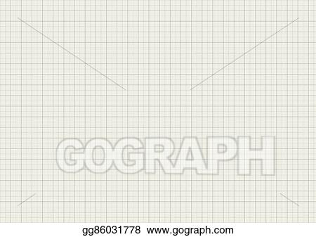 EPS Illustration - Gray color graph paper on a4 sheet size Vector