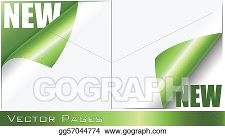 Vector Stock - Green curling pages Clipart Illustration gg57044774 - Culring Pajis