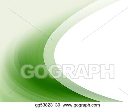 Stock Illustration - Green waves Clipart Drawing gg53823130 - GoGraph