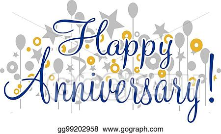Vector Stock - Happy anniversary banner Stock Clip Art gg99202958