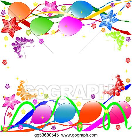 Stock Illustration - Happy birthday background Clipart