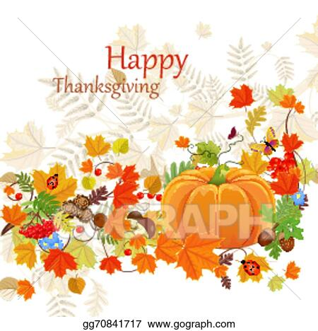 EPS Vector - Happy thanksgiving day celebration flyer, background