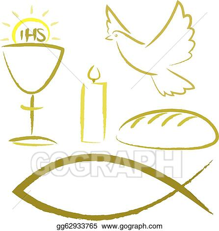 Vector Illustration - Holy communion - background EPS Clipart