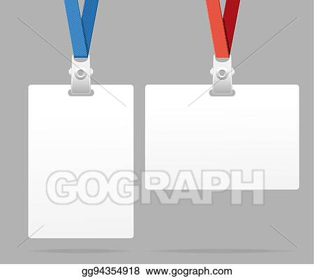 Vector Stock - Id card template plastic badge vector Stock Clip
