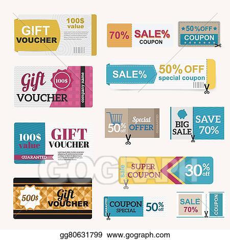 Vector Illustration - Illustration of gift voucher template