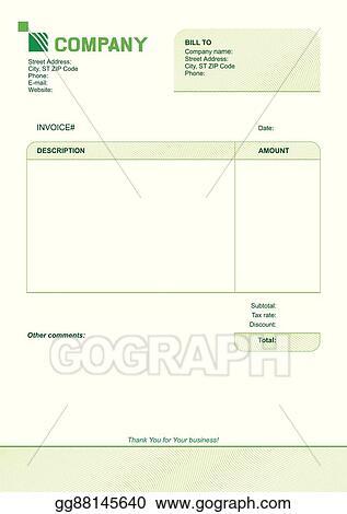 Vector Stock - Invoice template design Clipart Illustration