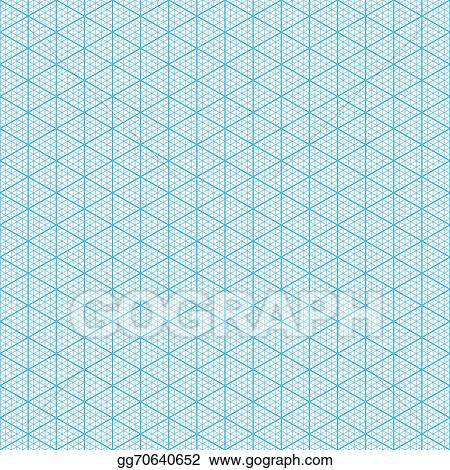 Vector Illustration - Isometric graph paper EPS Clipart gg70640652