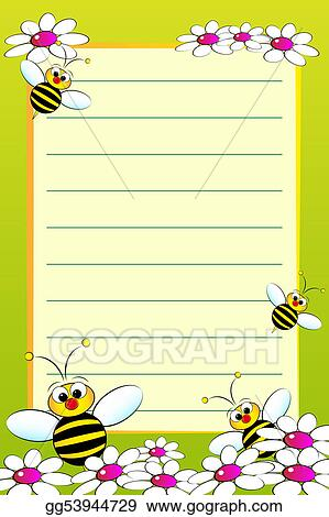 Stock Illustration - Kid notebook with blank lined page Clipart - lined page
