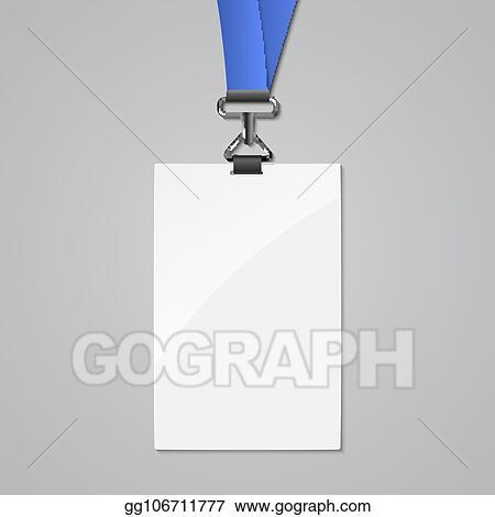 Vector Stock - Lanyard badge id card template blank identity