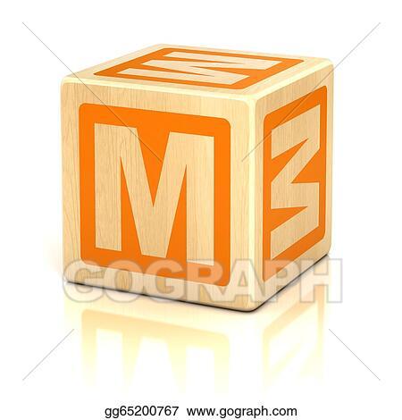 Stock Image - Letter m alphabet cubes font Stock Photo gg65200767