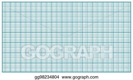 Vector Illustration - Millimeter paper vector blue graphing paper