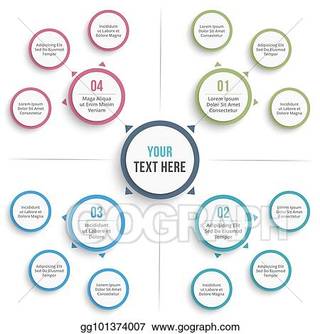 Vector Stock - Mind map template Clipart Illustration gg101374007