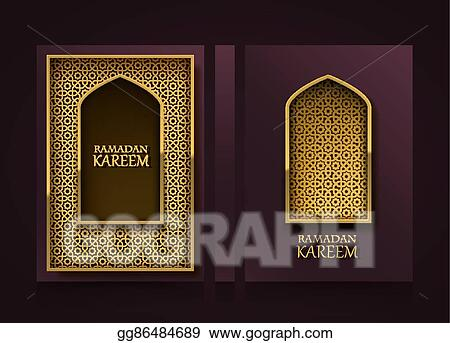 Vector Illustration - Modern vertical banners, ramadan kareem cover