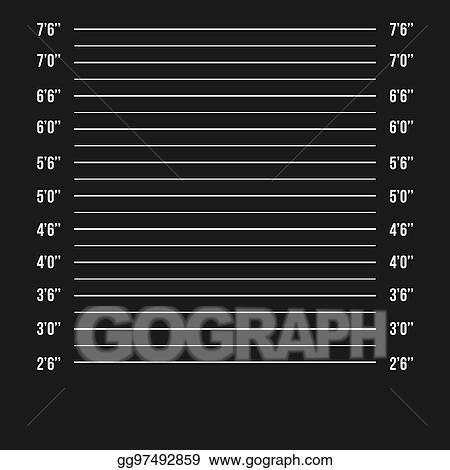 Vector Illustration - Mugshot police vector police mugshot lineup