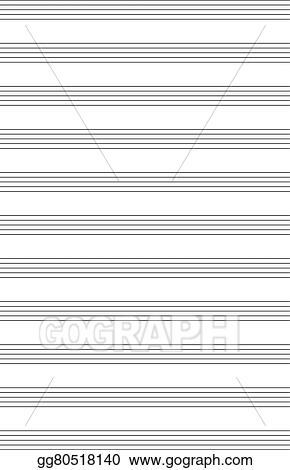 Vector Art - Music note stave a4 sheet EPS clipart gg80518140 - GoGraph