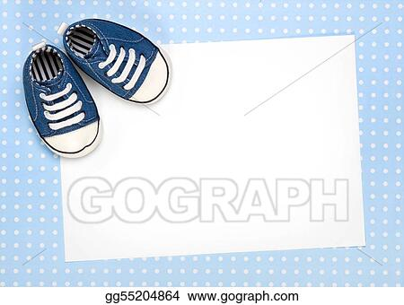 Stock Photo - New baby announcement or invite Stock Photography